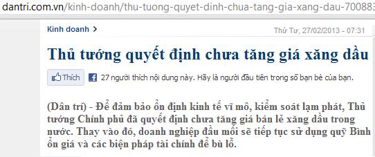 THỦ TƯỚNG NÓI CHƯA TĂNG GIÁ XĂNG 1